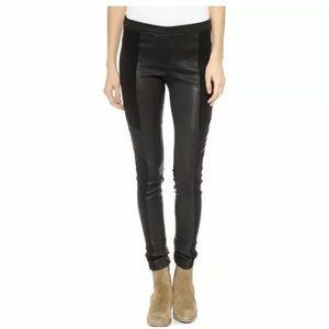 IRO Jole Lamb Leather Stretch Pants Leggings 36 S